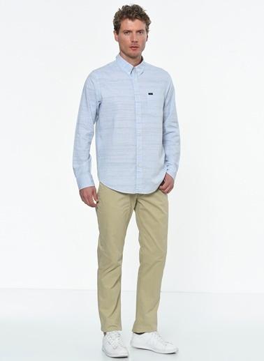 Lee Uzun Kollu Slim Fit Gömlek Mavi